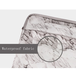 Macbook / Surface Laptop Sleeve - Marble Collection - White Marble
