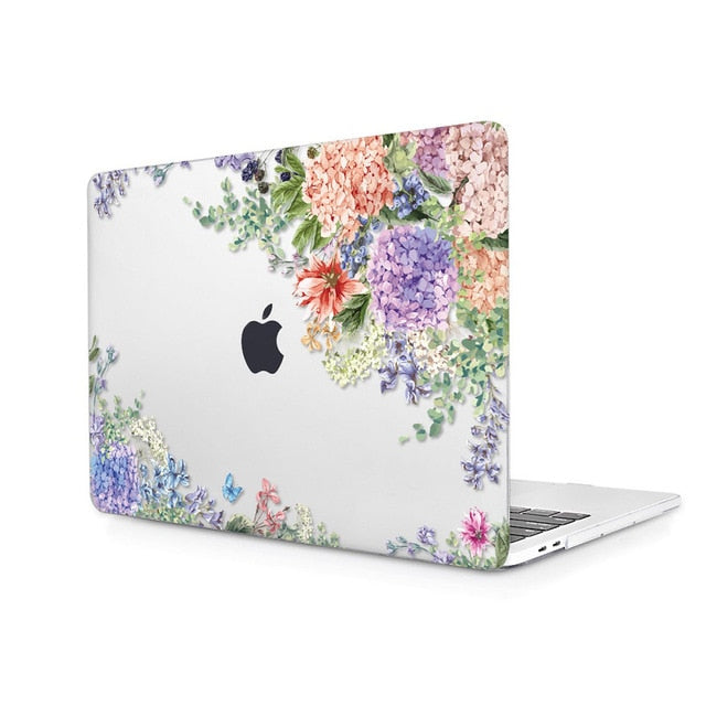 Macbook Case - Floral Collection - Iris