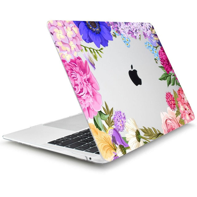 Macbook Case - Floral Collection - Rainbow Flowers