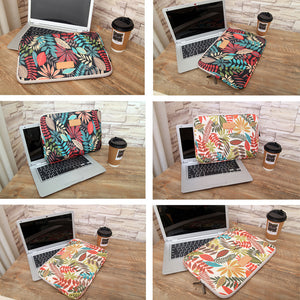 Macbook / Laptop Sleeve - Flower Collection - Flowers and Leaves