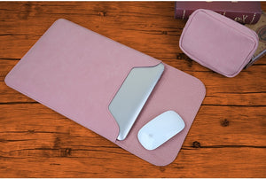 Macbook / Surface / Matebook / Laptop Sleeve - Leather Collection - Pink