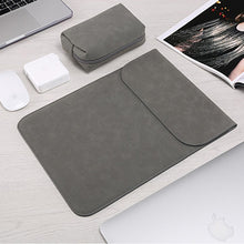 Load image into Gallery viewer, Macbook Sleeve - Leather Collection - Dark Grey