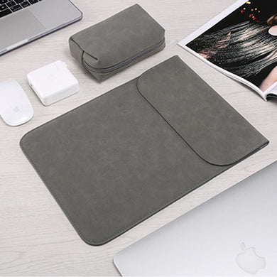 Macbook Sleeve - Leather Collection - Dark Grey