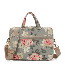 Load image into Gallery viewer, Laptop Canvas Sleeve Shoulder Messenger Bag Case for 12/ 13/14/15 Inch - China Roses