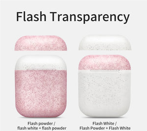 AirPod Case - Color Collection - Glitter White / Glitter Pink
