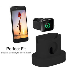 3 in 1 Charging Dock Station for AirPods Case+iWatch+iPhone Charger - Black