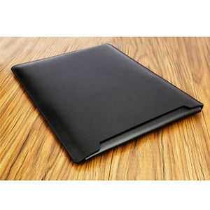 Laptop Sleeve case PU Leather bag for 11 12 13 15.4 15.6 - Black