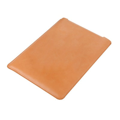 Laptop Sleeve case PU Leather bag for 11 12 13 15.4 15.6 - Light Brown