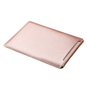 Laptop Sleeve case PU Leather bag for 11 12 13 15.4 15.6 - Rose Gold