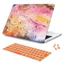 Load image into Gallery viewer, Macbook Case Bundle - Macbook Case and Keyboard Cover - Paint Collection - Orange Paint