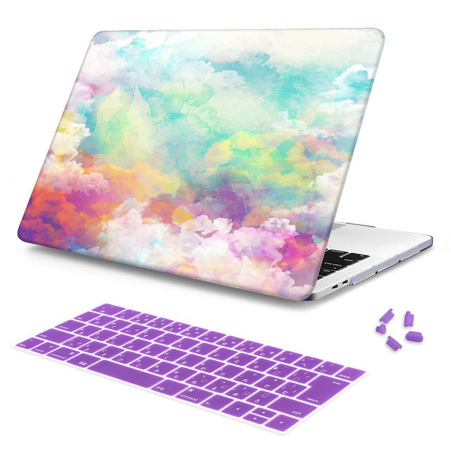Macbook Case Bundle - Macbook Case and Keyboard Cover - Paint Collection - Sky Paint
