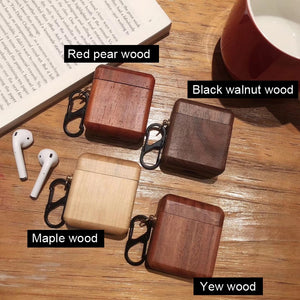 AirPods Case With hook - Wood Collection - Red Pear Wood