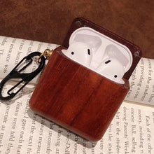 Load image into Gallery viewer, AirPods Case With hook - Wood Collection - Red Pear Wood