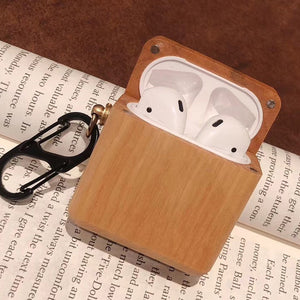 AirPods Case With hook - Wood Collection - Black Walnut Wood