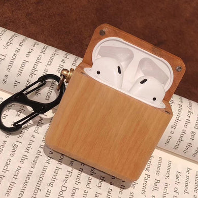AirPods Case With hook - Wood Collection - Maple wood