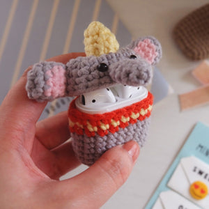 AirPods Case - Knitted Collection - Elephant