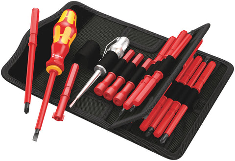 Kraftform Kompakt 18 Piece Insulated VDE Interchangeable Screwdriver Set (WERA)