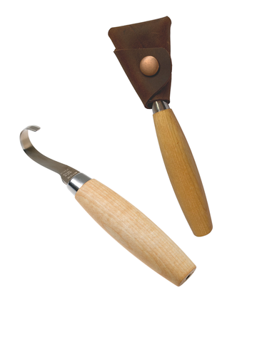 New Redesigned Mora Hook Knife 164 Left Handed SS with leather pouch (Morakniv)