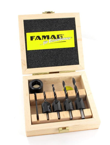 Shell Drill Countersink Set 5pcs 3,4,5 and 6mm (Famag)