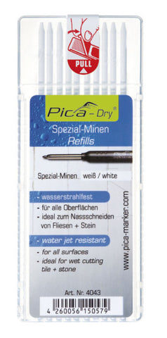 Pica-Dry Water Jet Resistant Refills White (PICA-Marker)