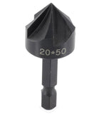 Countersink w/5 cutting edges and hex shank (Famag)