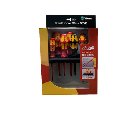 Kraftform Plus VDE Screwdriver Slimline 6 piece Set (NZ2) (WERA)
