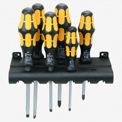 Kraftform Plus Slotted/Phillips Chiseldriver Set + Rack (WERA)