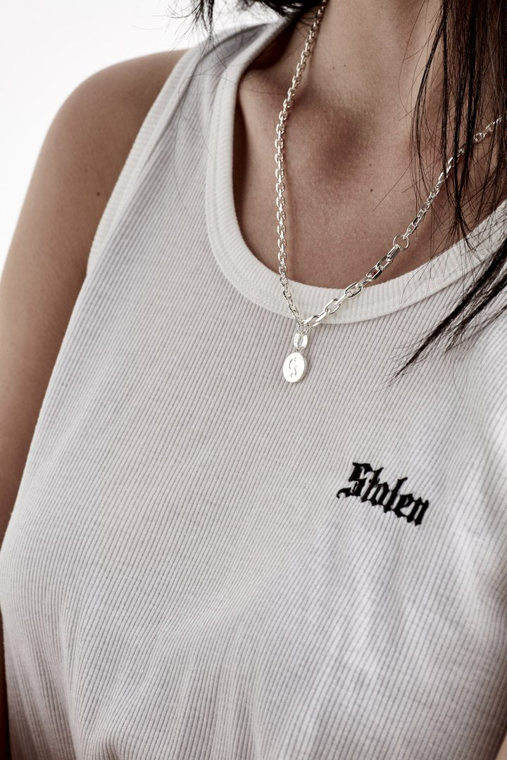 S LOGO CHAIN NECKLACE