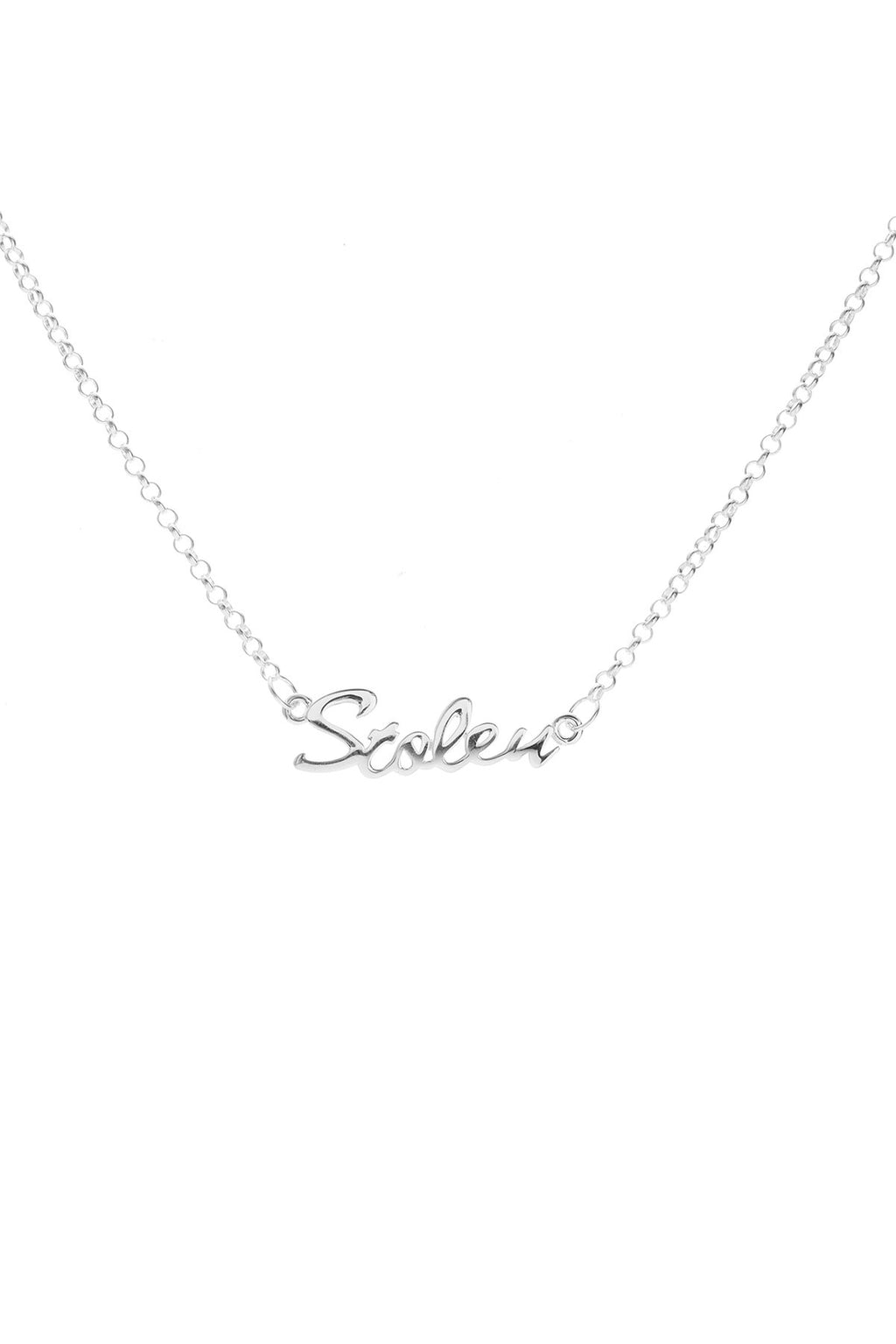 STOLEN SCRIPT NECKLACE