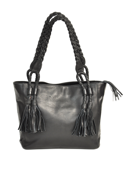 LILLY LEATHER TASSEL BAG
