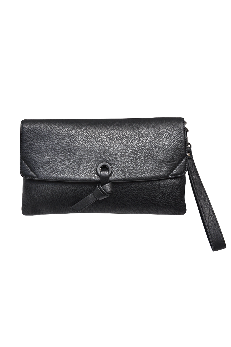 TORT LEATHER CLUTCH