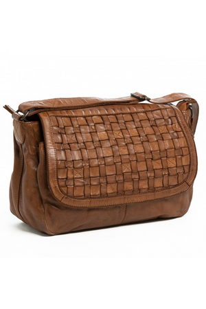 ORAN LEATHER BRONTE WOVEN BAG