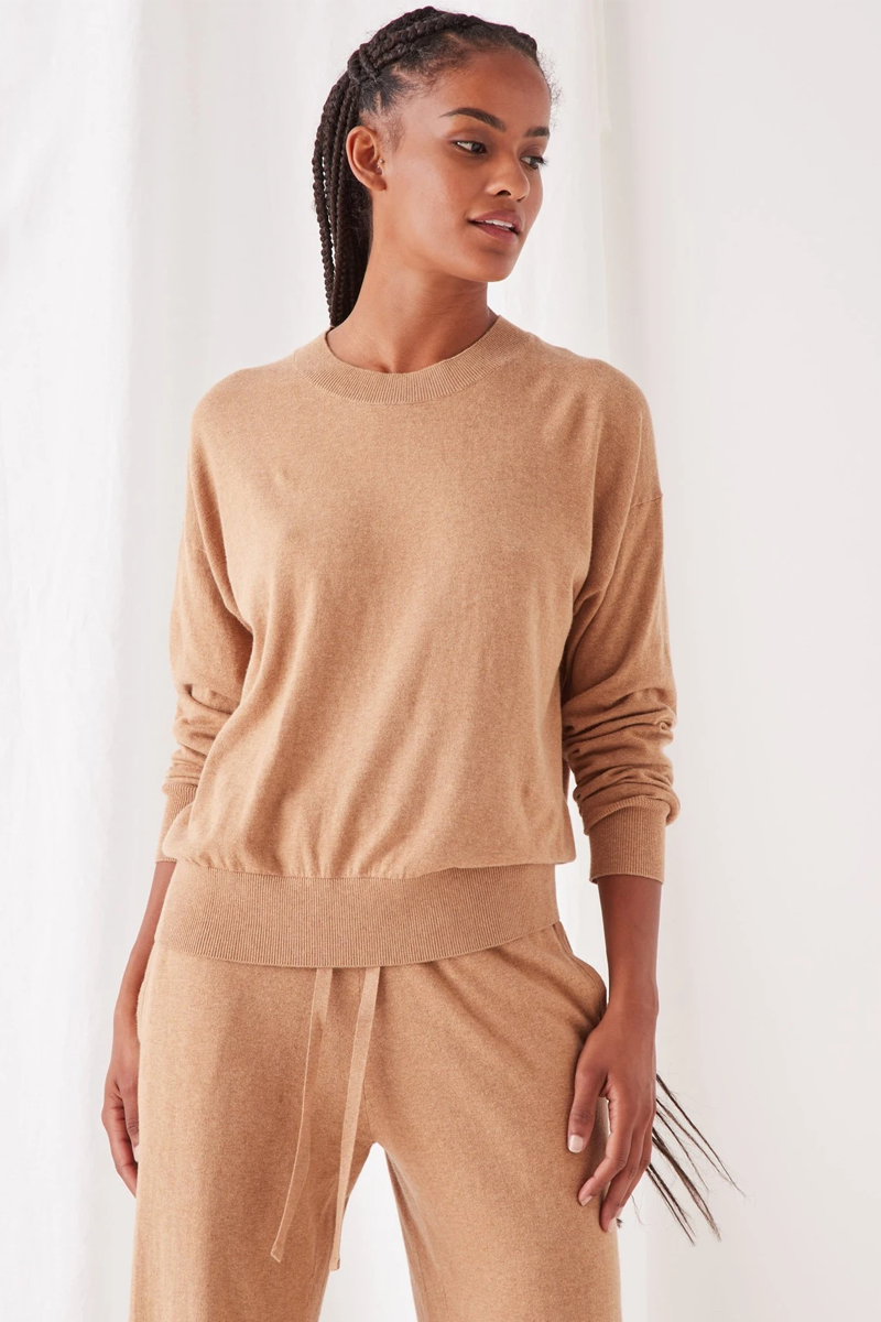 COTTON CASHMERE LOUNGE SWEATER