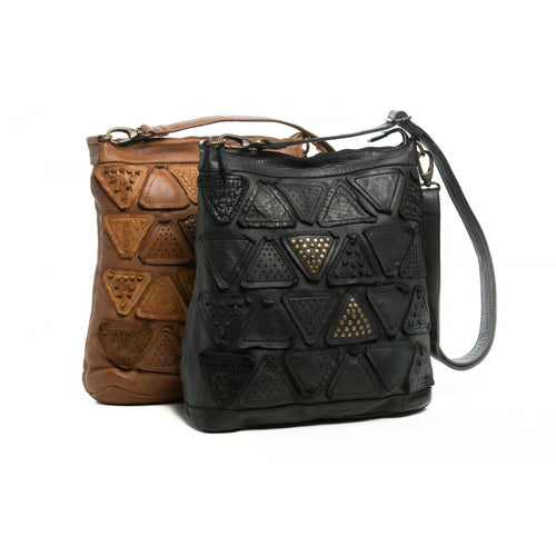 ORAN LEATHER DAKOTA LEATHER TRIANGLE TOTE