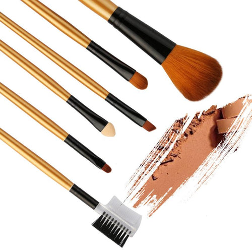 6PCS Foundation Eyebrow Eyeliner & Blush Brushes