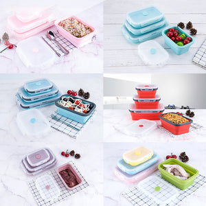 Stylish Bento Portable containers 4Pcs/set
