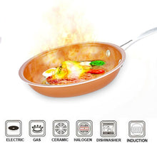 Load image into Gallery viewer, Skillet Copper Ceramic Pan