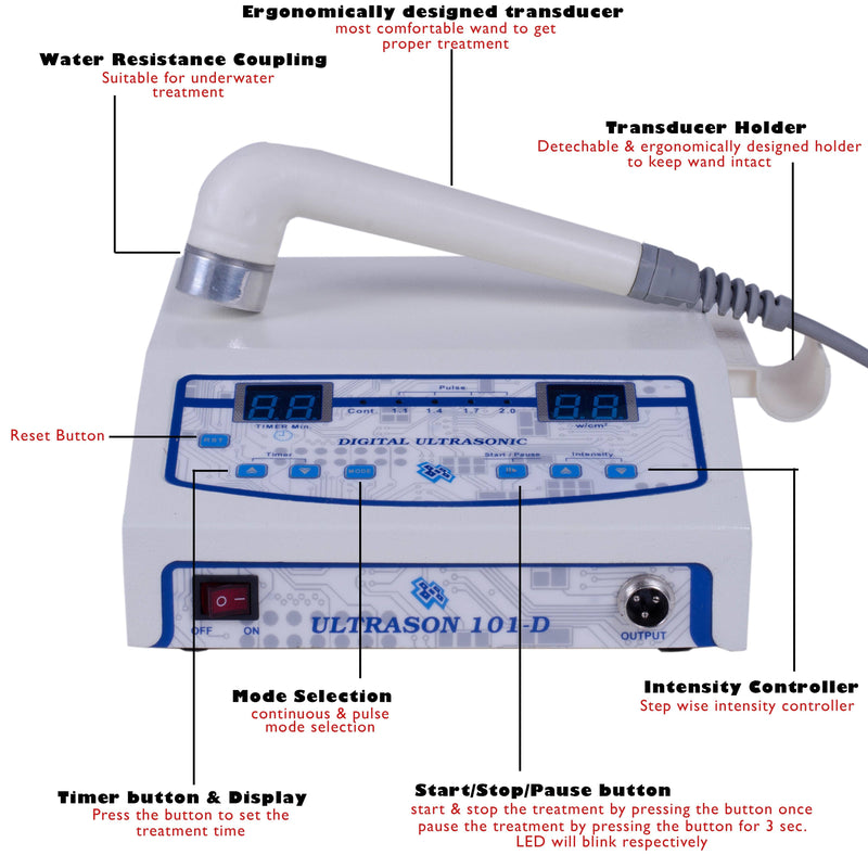 ULTRASON 101- D - 1 MHz Ultrasound Therapy Machine - Ultrasound therapy machine