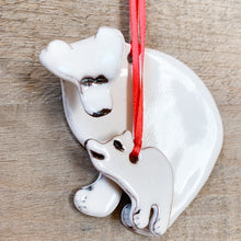 Load image into Gallery viewer, Polar Bear with Cub Ornament