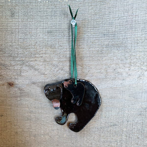 Black Bear with Cub Ornament