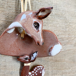 Deer with Fawn Ornament