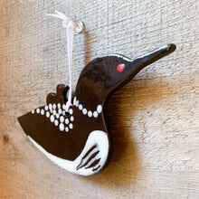 Load image into Gallery viewer, Loon with Chick Ornament