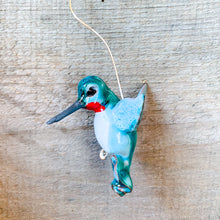Load image into Gallery viewer, Ruby-Throated Hummingbird Ornament