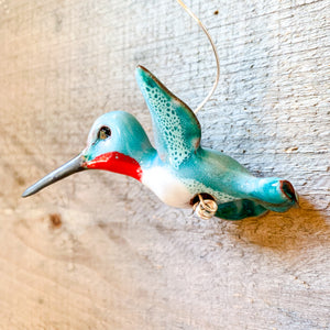 Ruby-Throated Hummingbird Ornament
