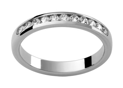 Ladies 18ct White Gold Diamond set Wedding Ring TBJD134