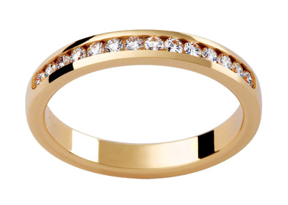 Ladies 18ct Yellow Gold Diamond set Wedding Ring TBJD136
