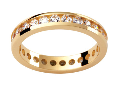 Ladies 18ct Yellow Gold Diamond set Wedding Ring TBJD144