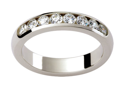 Ladies 18ct White Gold Diamond set Wedding Ring TBJD152