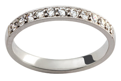 Ladies 18ct White Gold Diamond set Wedding Ring TBJD230-3pt