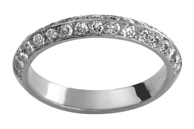 Ladies 18ct White Gold Full Diamond set Wedding Ring TBJD236